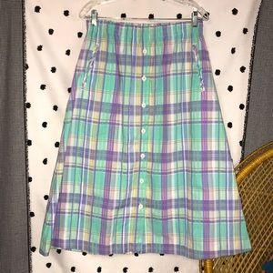 Vintage Spring Button Down Skirt